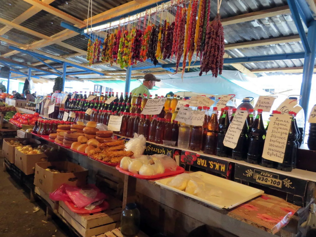 Рынок в Пицунде