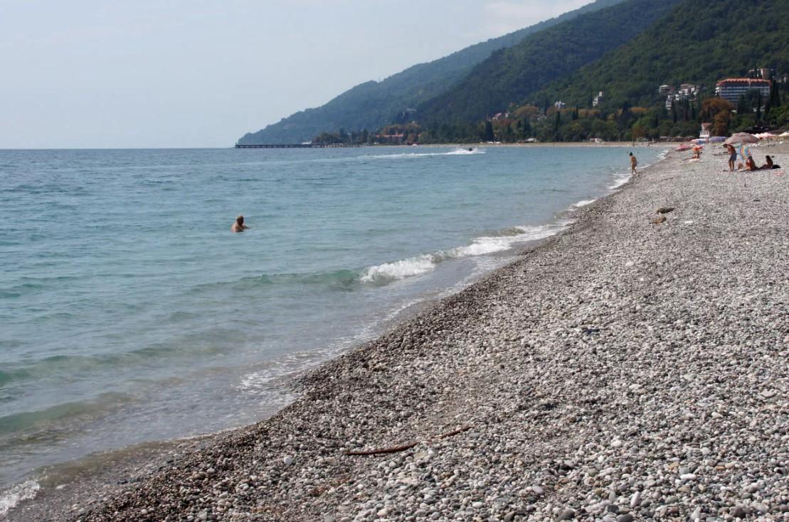 Пляж Гумиста. Сухум.