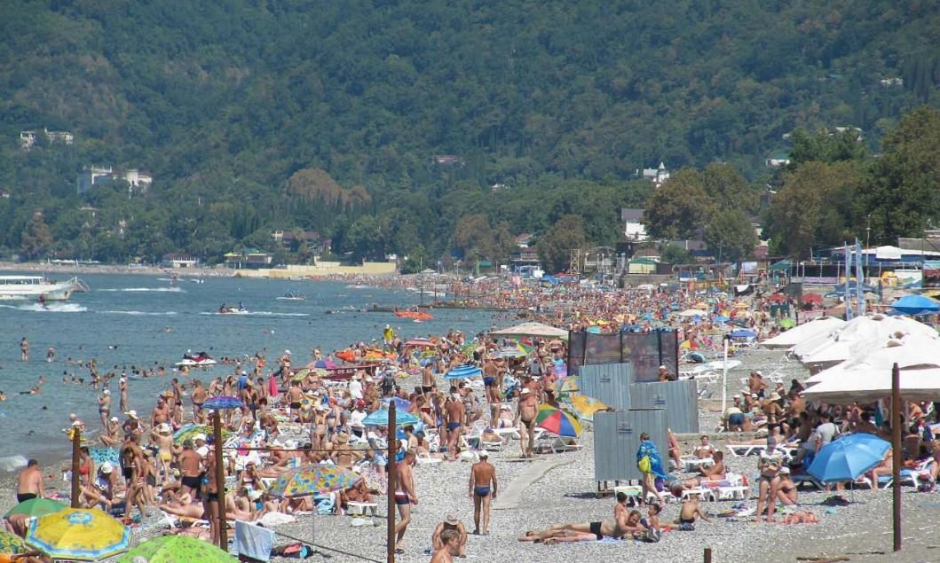 Фото: пляж и море, Гагры, Абхазия