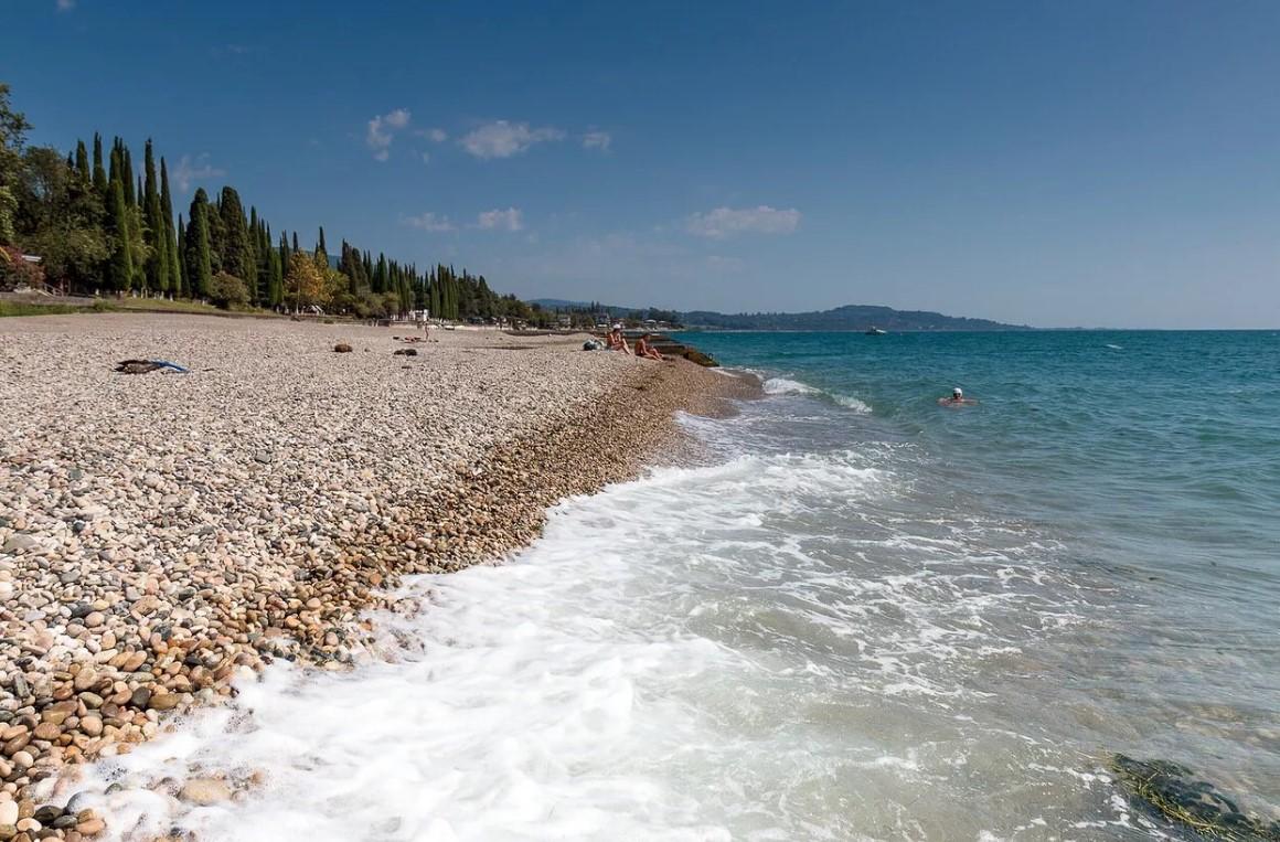 Пляжи и море Нового Афона